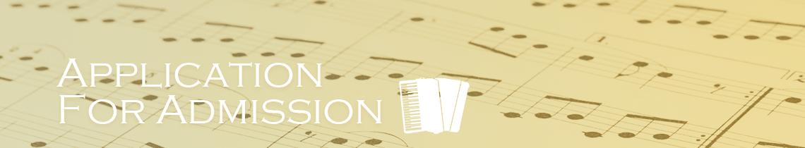 国立音楽院宮城校本科への入学願書提出
